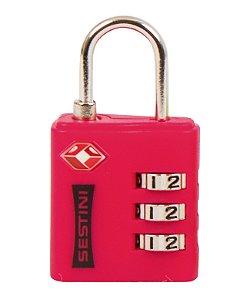 Cadeado TSA com Combinação Vermelho