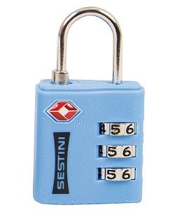 Cadeado TSA com Combinação Azul