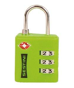 Cadeado TSA com Combinação Verde