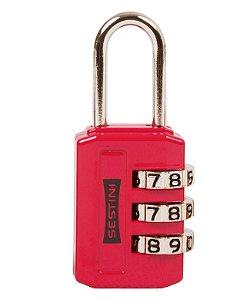 Cadeado 3 digitos Vermelho