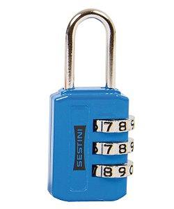 Cadeado 3 digitos Azul