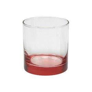 Copo de Whisky para Sublimação com Fundo Vermelho