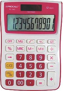 CALCULADORA DE MESA PROCALC PC100 12 DG PINK