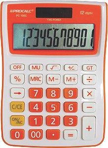 CALCULADORA DE MESA PROCALC PC100 12 DG LARANJA