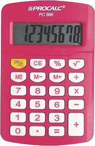 CALCULADORA PESSOAL PROCALC PINK PC986-P