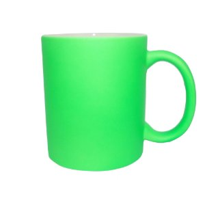 Caneca Fluorescente para Sublimação de Cerâmica Resinada Verde