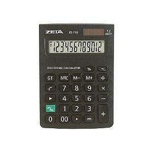 Calculadora de Mesa Zeta 12 dígitos - ZT712 Preta
