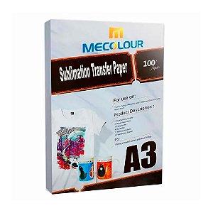 Papel para Sublimação R90 A3 Pacote com 100 folhas Mecolour