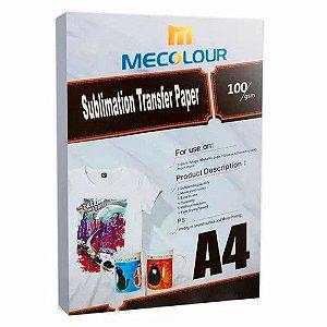 Papel para Sublimação R90 A4 Pacote com 100 folhas Mecolour