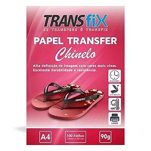 PAPEL TRANSFER LASER TRANSFIX PARA CHINELO 100 FOLHAS