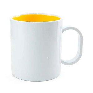 Caneca Amarela de Polimero 130g para Sublimação