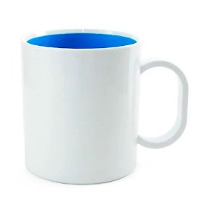 Caneca Azul de Polímero 130g para Sublimação