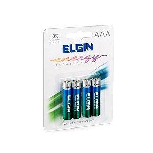 Pilhas Elgin AAA Energy Alcalinas c/4 Unidades
