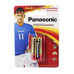 Pilha Alcalina AAA Panasonic 2 Unidades