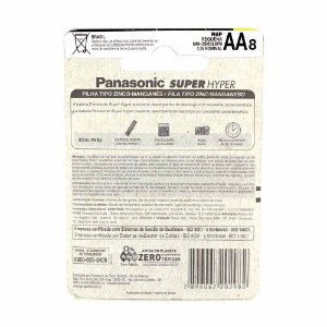Pilha Panasonic 8 unidades