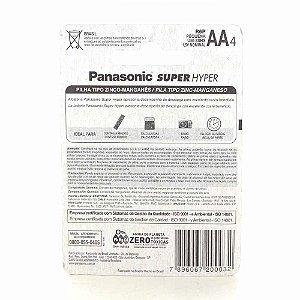 Pilha Alcalina AA Panasonic 4 Unidades
