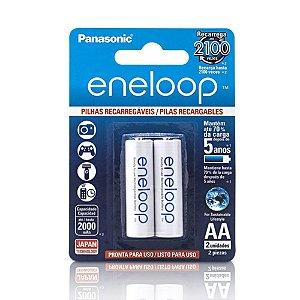 Pilha Panasonic Eneloop Recarregável Pequena AA 2 Un