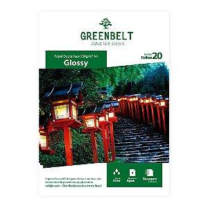 Papel Fotográfico A4 Glossy 230g Dupla Face Greenbelt 20 Folhas