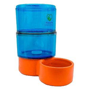 Bebedouro para Cachorros Filtro com Vela Acquapet Azul 8 Litros