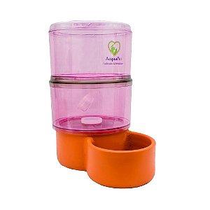 Bebedouro para Cachorros Filtro com Vela Acquapet Rosa 8 Litros