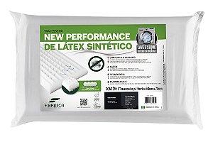 Travesseiro Látex Fibrasca Antiácaro Lavável para Dormir Sintético Plus 4604