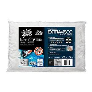 Travesseiro Viscoelástico Íons de Prata Antiácaro Extravisco Fibrasca l4005