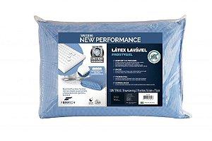 Travesseiro Látex Sintético Lavável Sintético Frostygel Fibrasca 4601