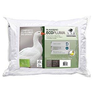 Travesseiro Ecopluma Pluma Sintética Lavável Fibrasca 4355