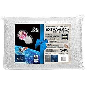 Travesseiro Viscoelástico Extravisco Toque De Rosas Fibrasca 4645
