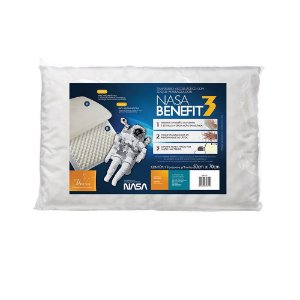 Travesseiro Nasa Viscoelástico Fibrasca Benefit 3 para Dormir 4735