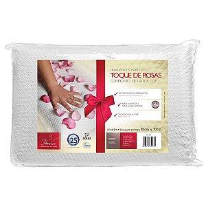 Travesseiro Látex Alto Toque de Rosas Conforto Top Fibrasca 4595