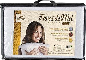 Travesseiro Alto Favos de Mel Lavável para Dormir 50x70cm Fibrasca 4945
