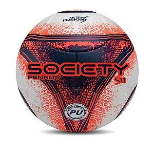 Bola Society S11 R3 Penalty Laranja e Azul 521225 Cor 1080