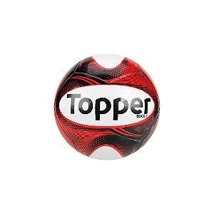 Bola de Futebol de Salão/Futsal Topper Slick II - Coral Branco e Preto