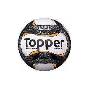 Bola de Futebol de Campo Topper Drible Campo - Branco Preto e Laranja