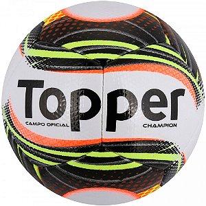 Bola de Futebol de Campo Topper Champion - Branco e Preto