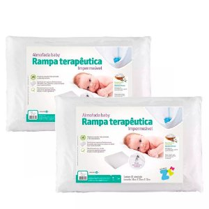 KIt 2 Almofadas Baby Rampa Terapêutica Antirrefluxo Fibrasca BY4331