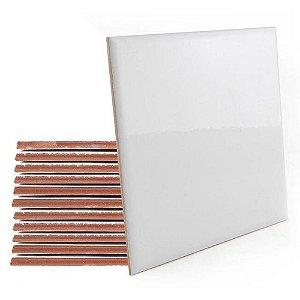 Azulejo de Cerâmica Branco Resinado para Sublimação 15x15cm