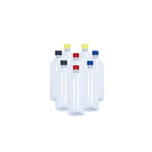 Kit 8 Frascos plásticos de  1 Litro para embalagem de tinta com tampa