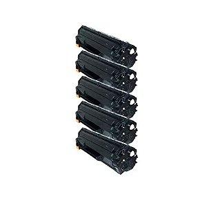 Kit 5 Toner HP P1606 | P1606DN | P1566 | P1560 | P1600 | CE278A | 78A Compativel