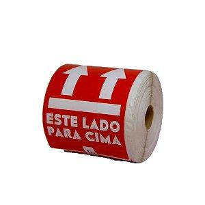 "Etiquetas Papel Couche 100 x 150 ""Este Lado Para Cima"""