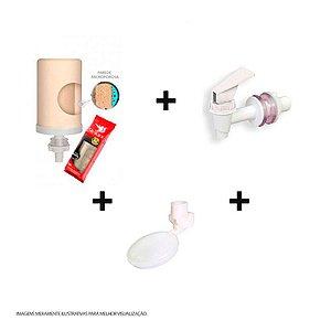 Kit vela + torneira + boia para filtro de barro