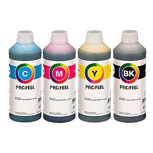 Kit 4 Tintas para Epson L395 CMYK Pigmentada 1 litro PROFEEL