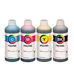 Kit 4 Tintas para Epson L3150 CMYK Pigmentada 1 litro PROFEEL