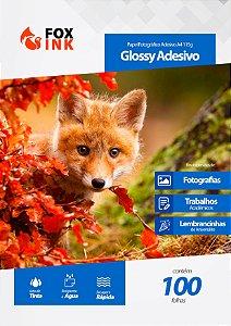 Papel Fotográfico Glossy Adesivo A4 115g Fox Ink 100 Folhas