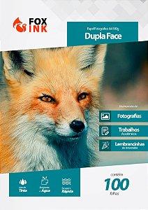 Papel Fotográfico Dupla Face A4 180g Fox Ink 100 Folhas
