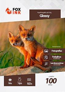 Papel Fotográfico Glossy A3 135g Fox Ink 100 Folhas