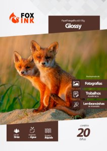 Papel Fotográfico Glossy A3 135g Fox Ink 20 Folhas