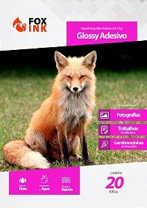 Papel Fotográfico Glossy Adesivo A3 115g Fox Ink 20 Folhas