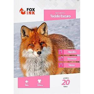 Papel OBM para Tecido Escuro A4 Fox ink 20 Folhas